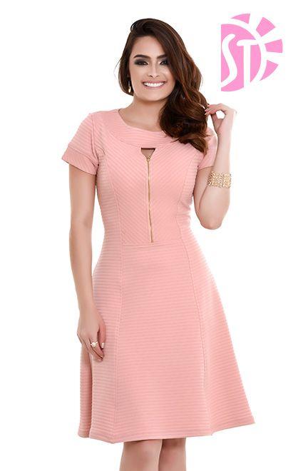 4b80c99cd VESTIDO EVASÊ 10705 - Clássica Moda Evangélica | vestidos | Dresses ...