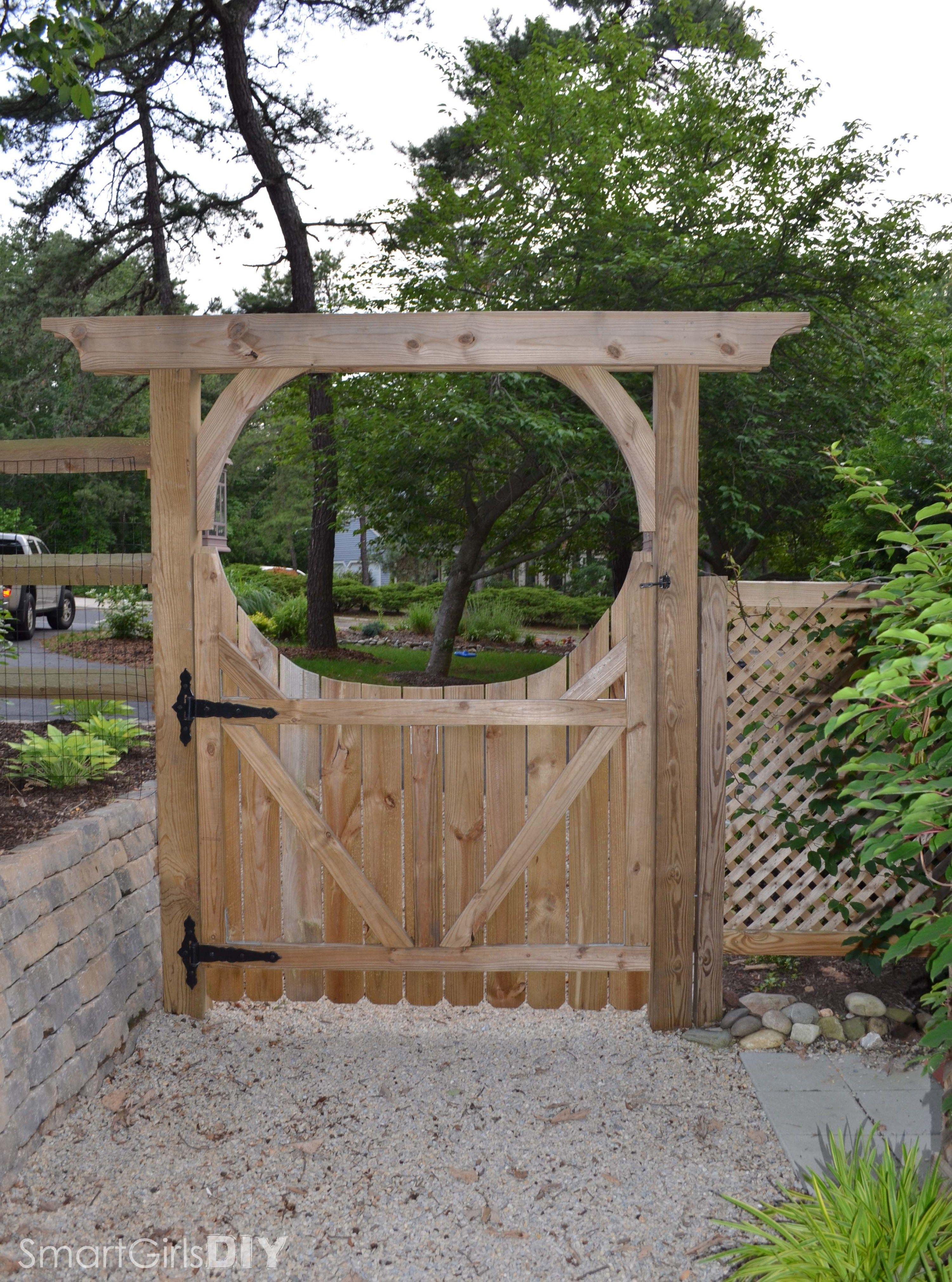 Rear View Of Diy Garden Arbor And Gate Garden Arbor With Gate