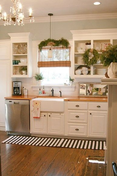 Replace The Countertops With Dark Wood And This Is My Perfect