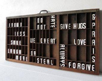 Letterpress tray   Etsy