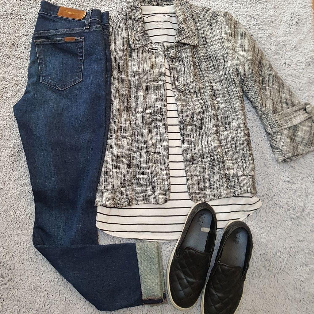 [J.Crew] Cotton/Linen Tweed Jacket W/ Bell Sleeves
