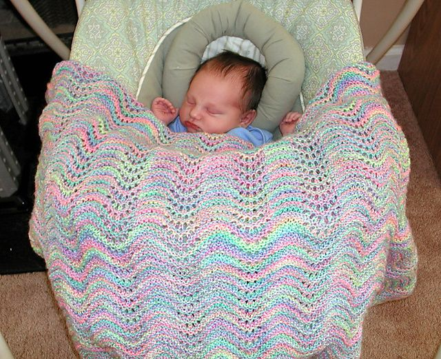 Feather And Fan Rainbow Baby Blanket Pattern By Cathy Waldie Knit