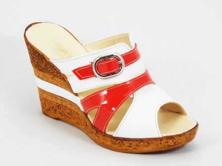 inventar imens frumosi pantofi selecție uimitoare Papuci dama piele portocalii talpa ortopedica Kennra Material ...
