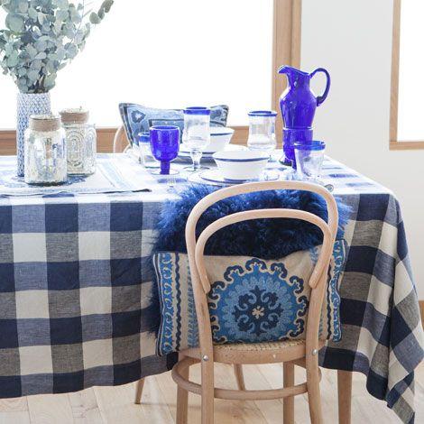 Two-tone Check Tablecloth - Tablecloths & Napkins - Tableware | Zara Home Hungary