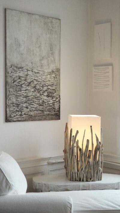 Treibholzlampen und Objekte Elke Paus Deko Pinterest Lámpara - designer mobel baumstammen