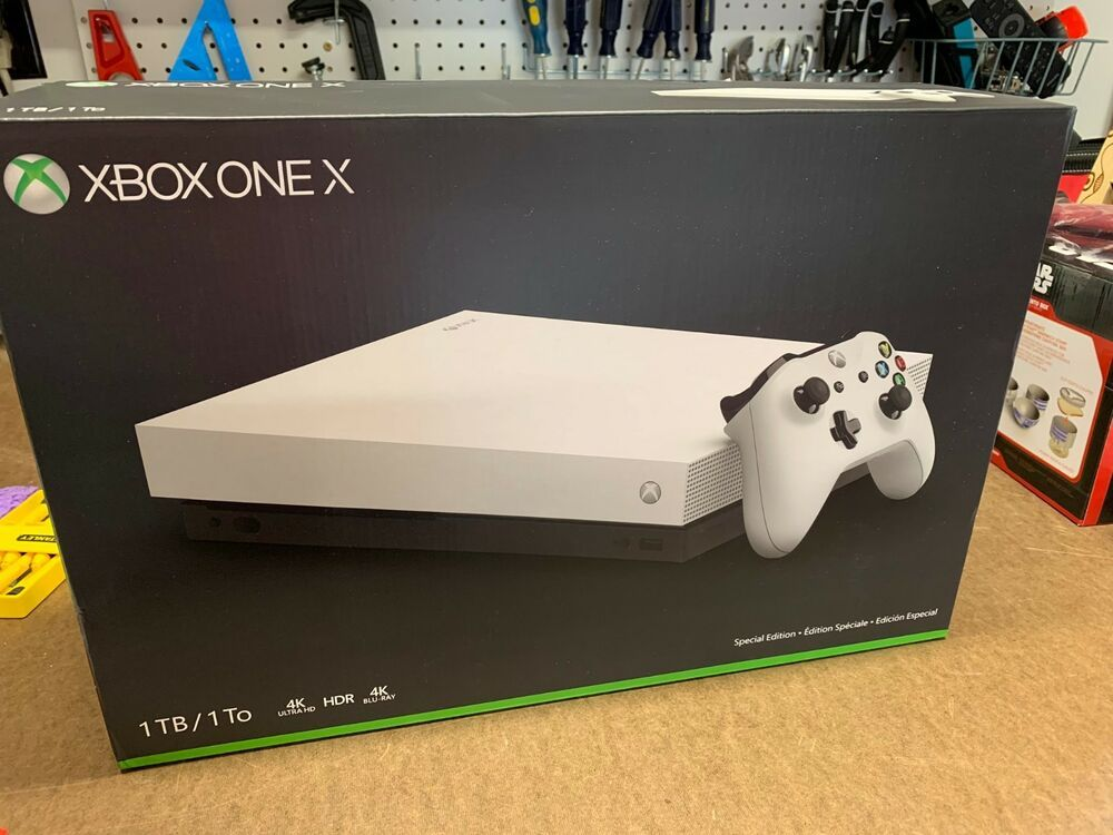 Microsoft Xbox One X 1tb Console Limited Special Edition White Box Only Xboxone Xbox Game Halo 5 Xbox One Xbox One Kinect