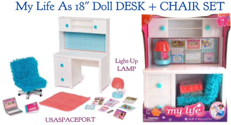 My Life As Pinkwhite Desk Chair School For 18 American Girl Doll
