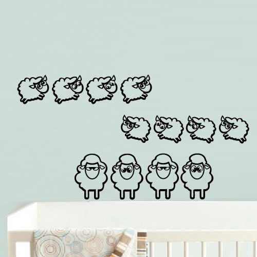 ==> [Free Shipping] Buy Best Wall Decal Vinyl Sticker Nursery Kids Baby Animal Sheep Set 22inchx35inch Online with LOWEST Price | 32626934259