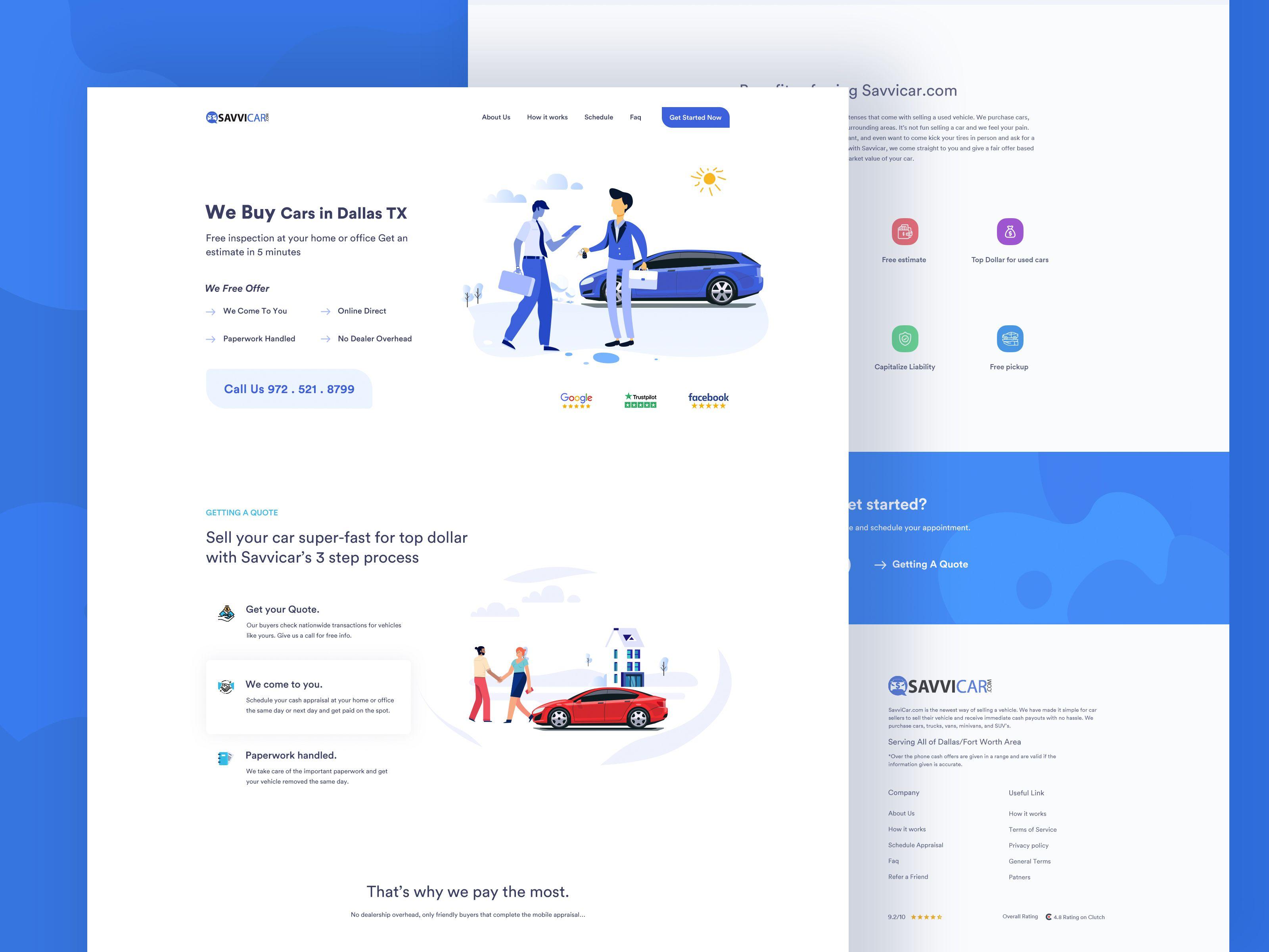 Car Sale Landing Page Landing Page Business Website Design Car