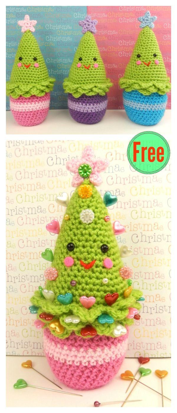 Amigurumi Christmas Tree Free Crochet Pattern | Häkeln, Gehäkelte ...