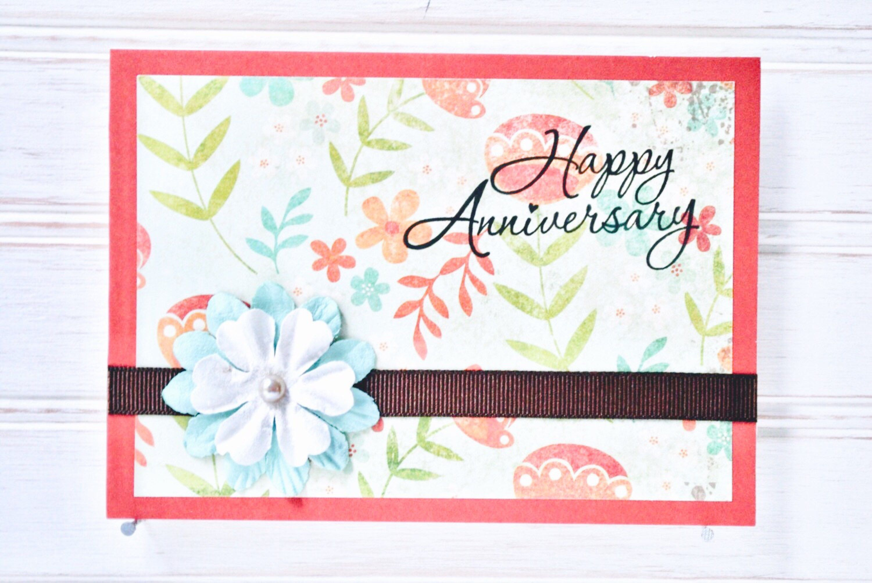 Anniversary Greeting Card Unique Handmade Happy Anniversary Card