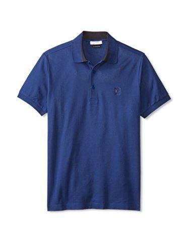 Versace Collection Men's Pique Polo (Blue)