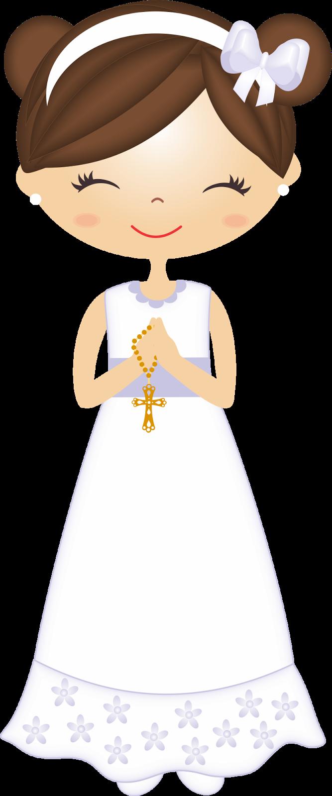 Clipart de Nenas en su Primera Comunión. | mi primera Comunión ... for Communion Girl Clipart  584dqh