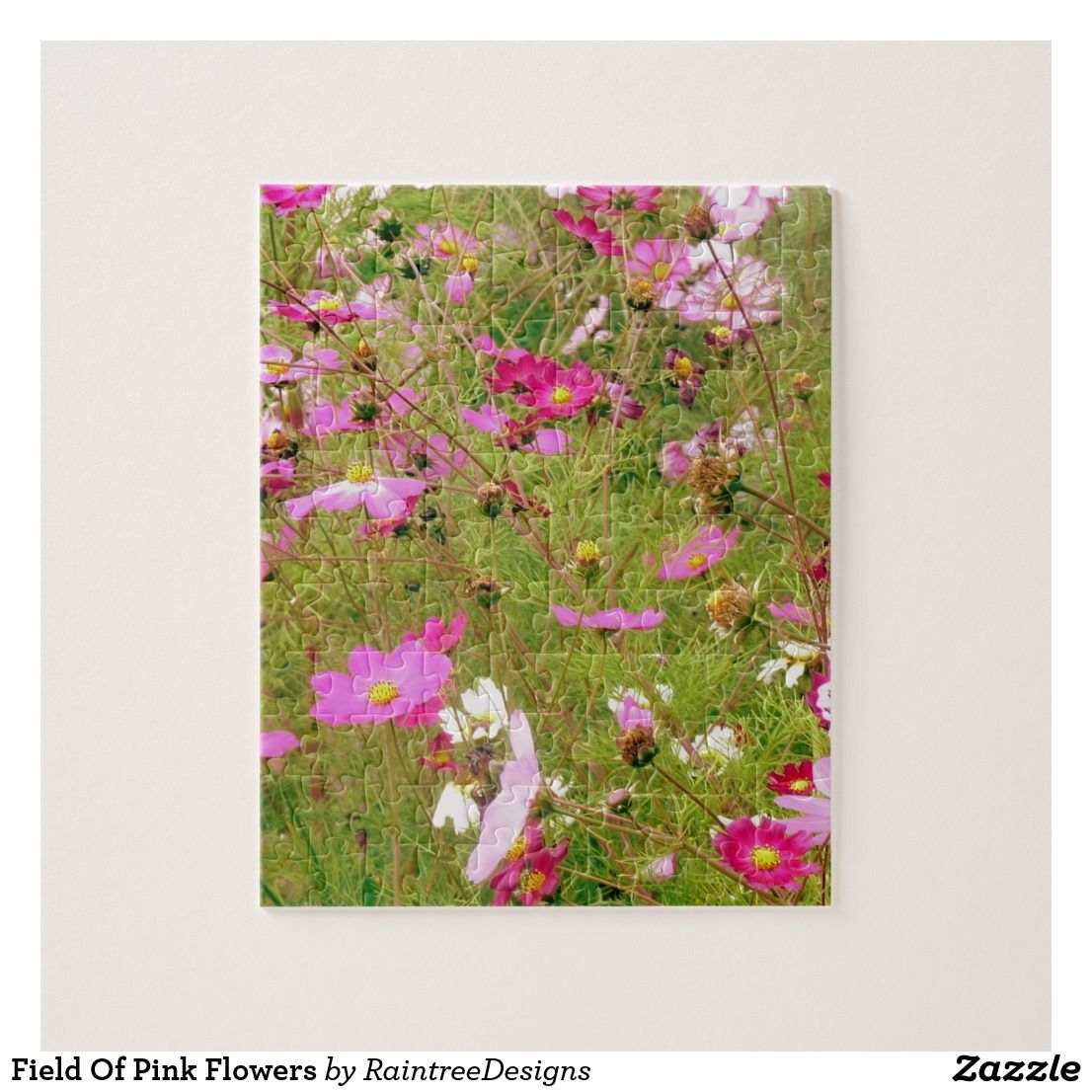 Field Of Pink Flowers Jigsaw Puzzles Nature Themes Pinterest