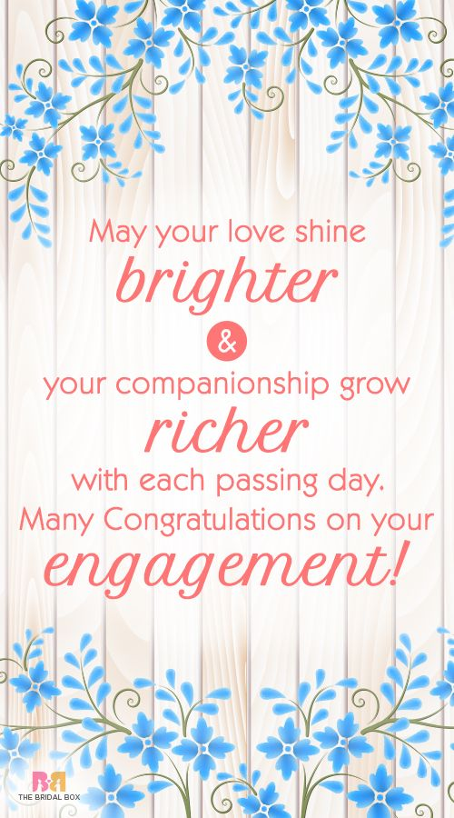 35 Sweetest Engagement Wishes To Share Wedding Invitations Engagement Wishes Engagement