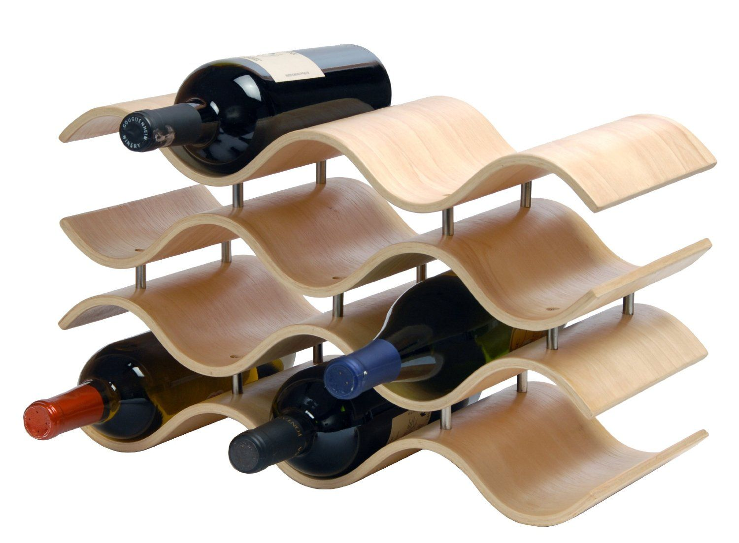 Free standing wine racks kitchen and dining lifestyle for Other uses for wine racks in kitchen