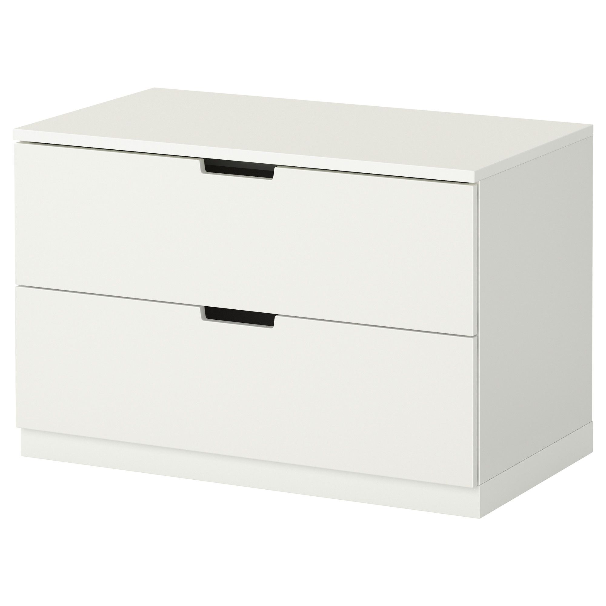 Nordli kommode mit 2 schubladen wei drawers for Kommode schubladen