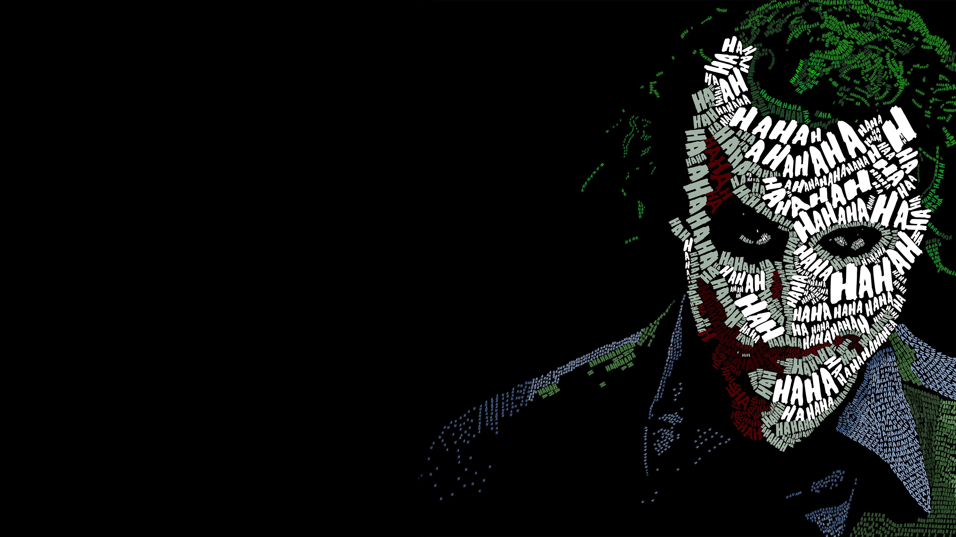 Wallpaper 4k Joker Typography 4k Wallpapers Artist Wallpapers