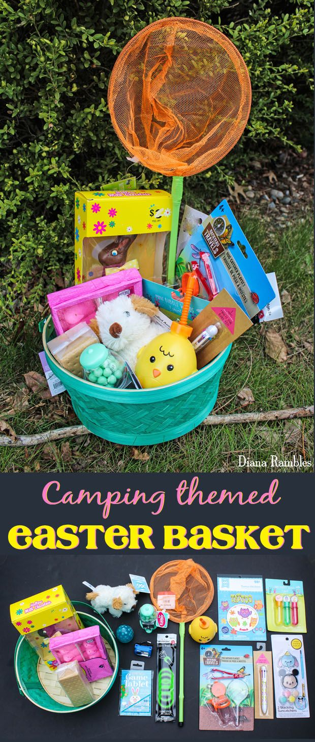 Camping easter basket for kids who love to camp easter baskets and camping themed easter basket does your child love to camp create a camping easter basket for hours of fun at the campground they will love the candy negle Gallery
