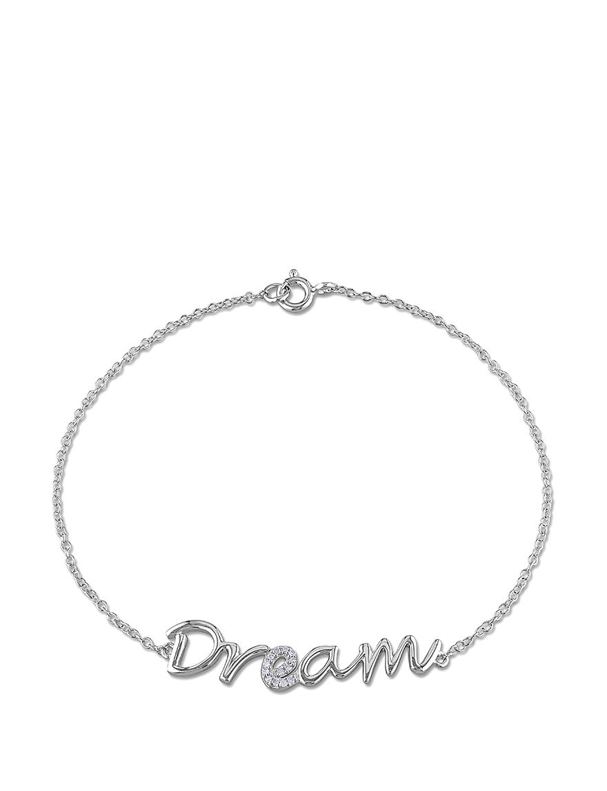 Amour Collection Sterling Silver .04 CT. T.W. Diamond Dream Bracelet | Stage Stores $112.50  sale
