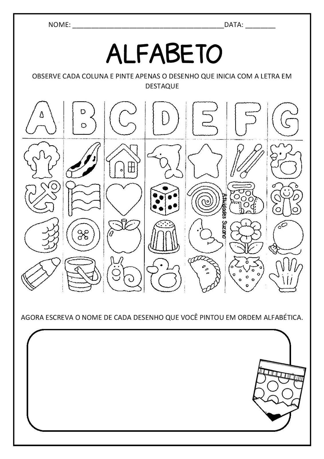 Alfabeto Atividades Page 002 Jpg 1131 1600 Com Imagens