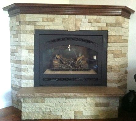 Airstone it s a manufactured stone veneer containing 80 for Eco friendly fireplace