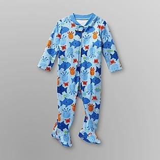 95eff2a6c Small Wonders- -Infant Boy's Footed Pajamas - Sharks | Baby Boy ...