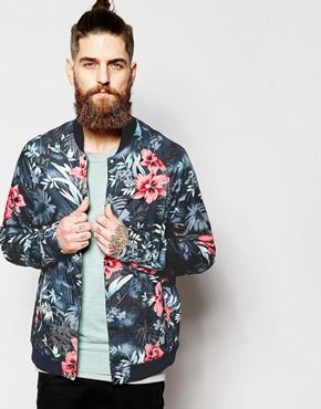 Enlarge Scotch & Soda Bomber Jacket with Floral Print | Things ...
