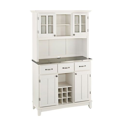 Home Styles Furniture White Buffet With Two Door Hutch And