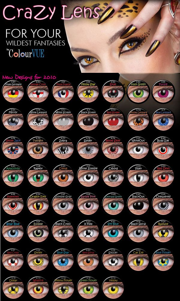 Colourvue Crazy Lens Yearly 14mm Halloween Eye Contacts Halloween Contact Lenses Contact Lenses Colored