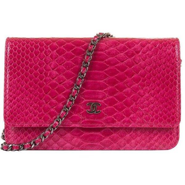 e53fce868936 SO SO RARE Chanel 'Tres Chic' WOC Bag in Fushia Pink Python with SHW ...