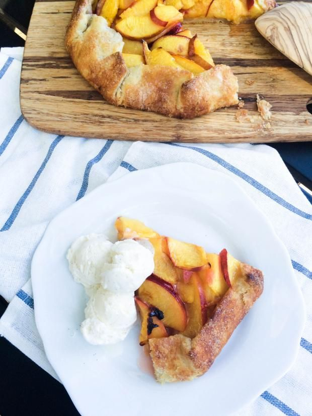 Free Form Peach Pie Recipe with the most amazing flaky dough.