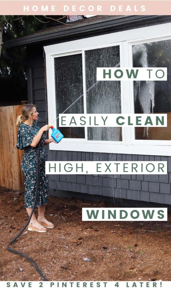 The Easiest Way to Clean Exterior High Windows | High ...