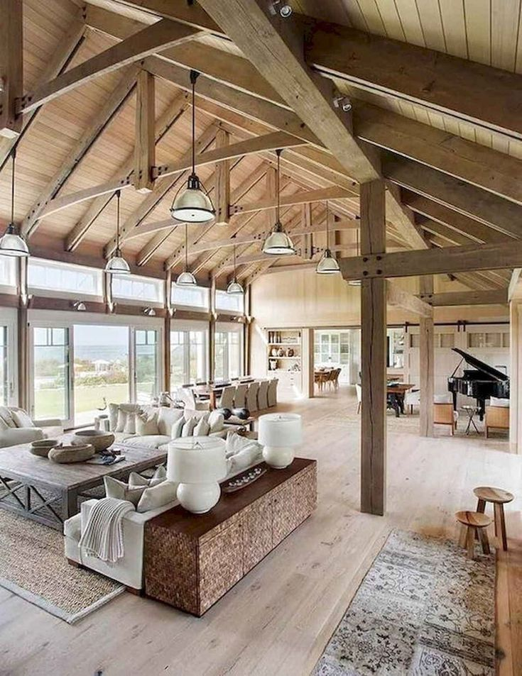 29 Barndominium Floor Plans Ideas to Suit Your Budget Modern Farmhouse Living Room Barndominium budget Floor ideas Plans Suit #barndominiumideas