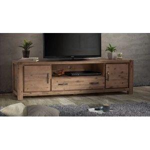 Vancouver Acacia Wood Tv Cabinet 2m Meuble Et Meuble Tele