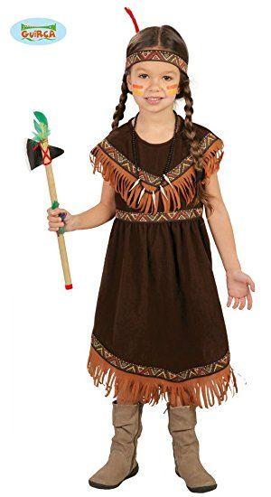 Elegantes Braunes Indianer Kostum Madchen Kinder Komplettes