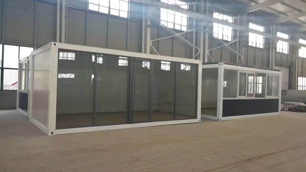 20feet Cheap Price Glass Wall Container House Coffee Shop