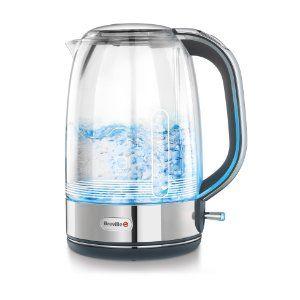 Vidrio Breville VKT074X Hervidor 1.7 litros 2400 W Transparente y gris jarra de cristal