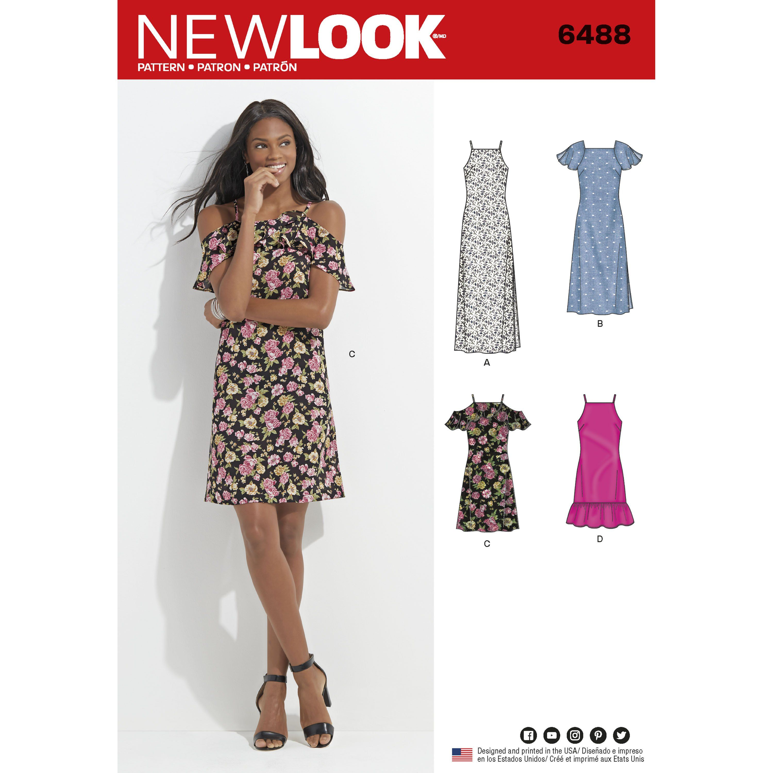 New Look 6488 Misses Dress with Length and Sleeve Variations