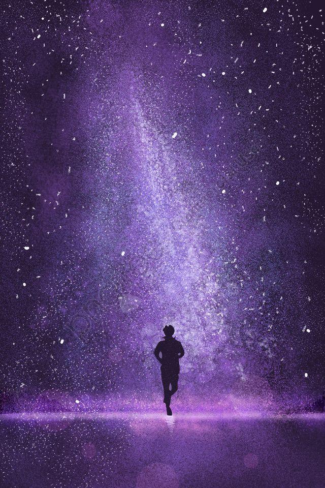 Starry Beautiful Purple Night, Juvenile, Universe, Dream ...