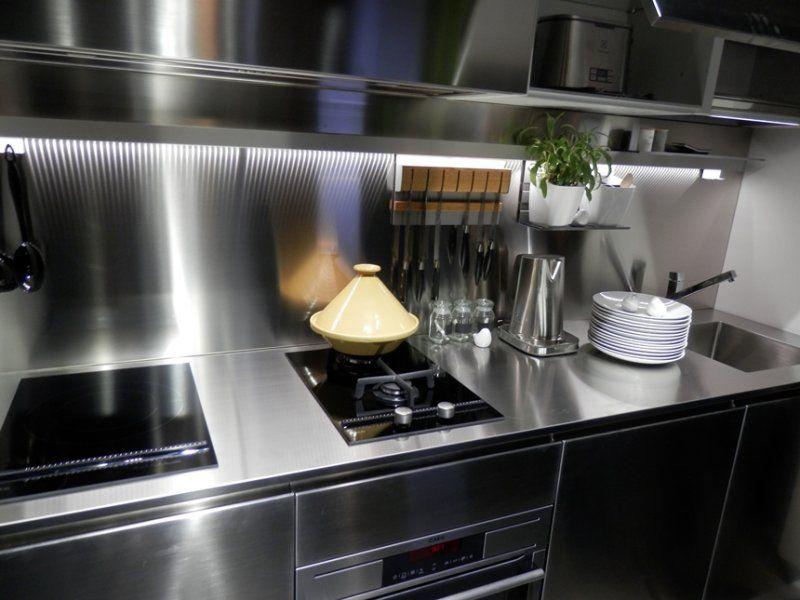 Frente De Cocina De Acero Inoxidable Buscar Con Google Cocina