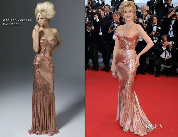 Jane Fonda In Atelier Versace – 'Moonrise Kingdom' Cannes Film Festival Premiere & Opening Ceremony