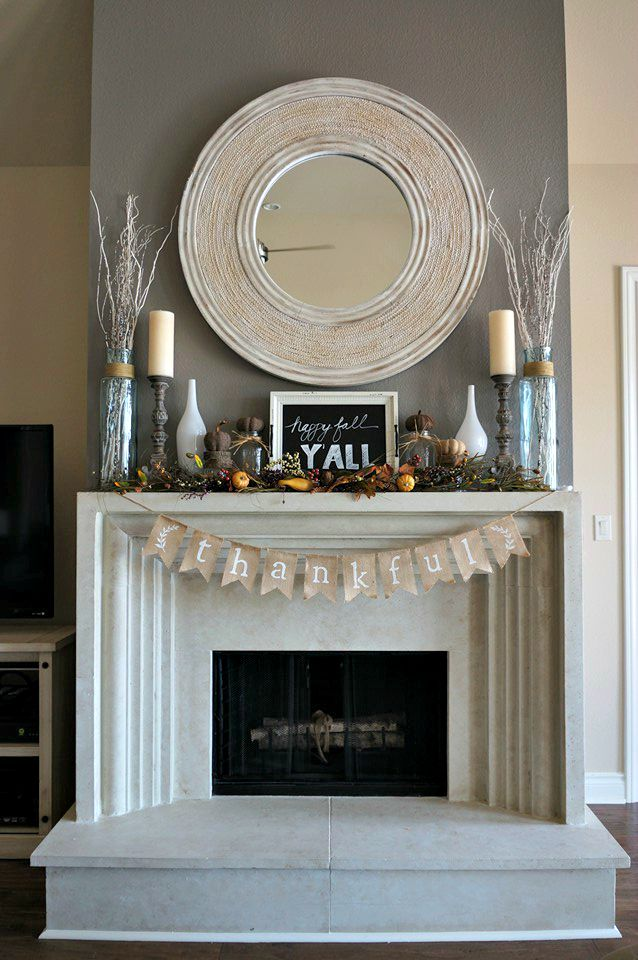Decorating For Autumn, Fall, Thankful, Burlap, Thanksgiving, Home Décor,  Decorating