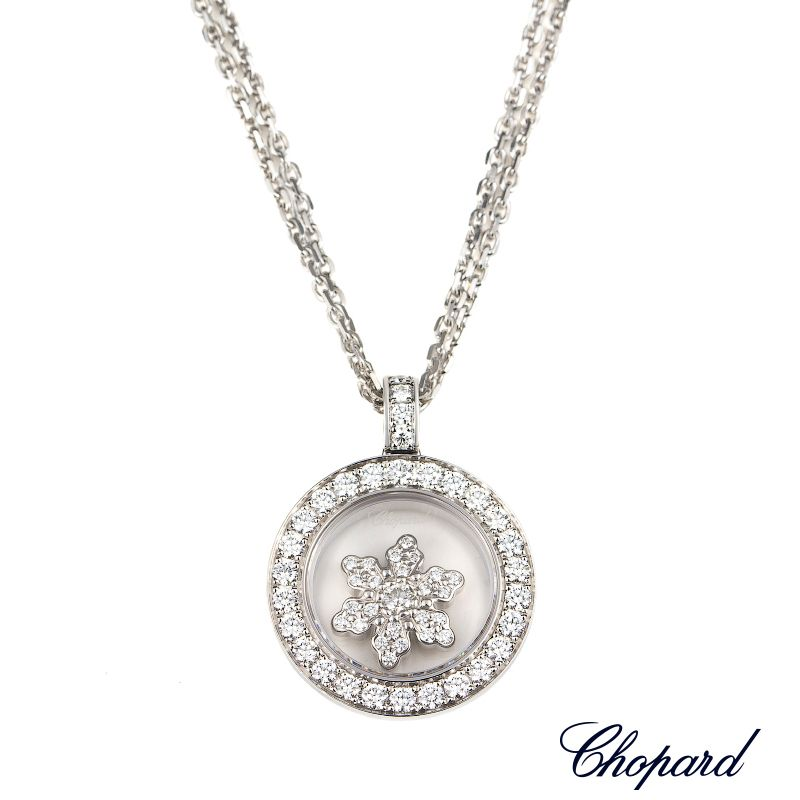 Chopard 18k white gold happy diamonds snowflake necklace 795756 20 chopard 18k white gold happy diamonds snowflake necklace 795756 20 http aloadofball Image collections