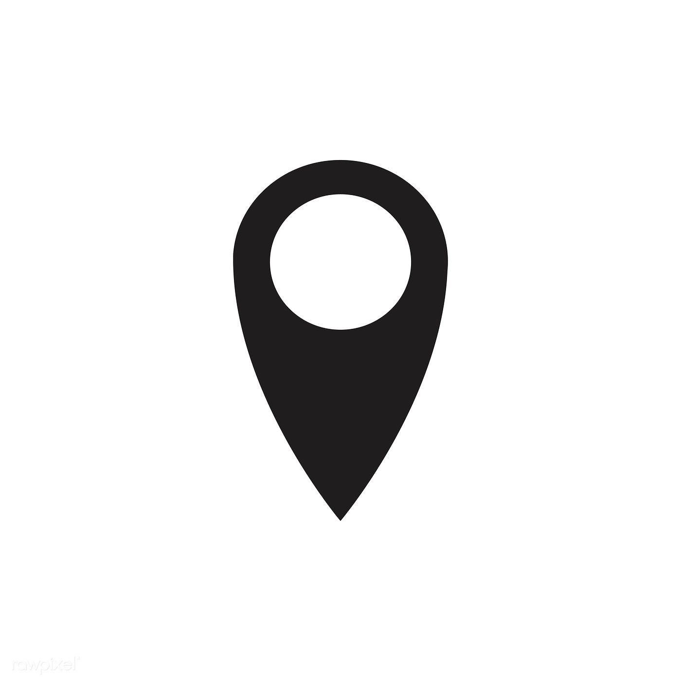 Isolated Black Map Pin Icon Free Image By Rawpixel Com Pin Map Location Icon Icon