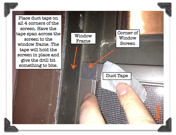 how to install custom window screens in old window frames - Window Screen Frame Corners