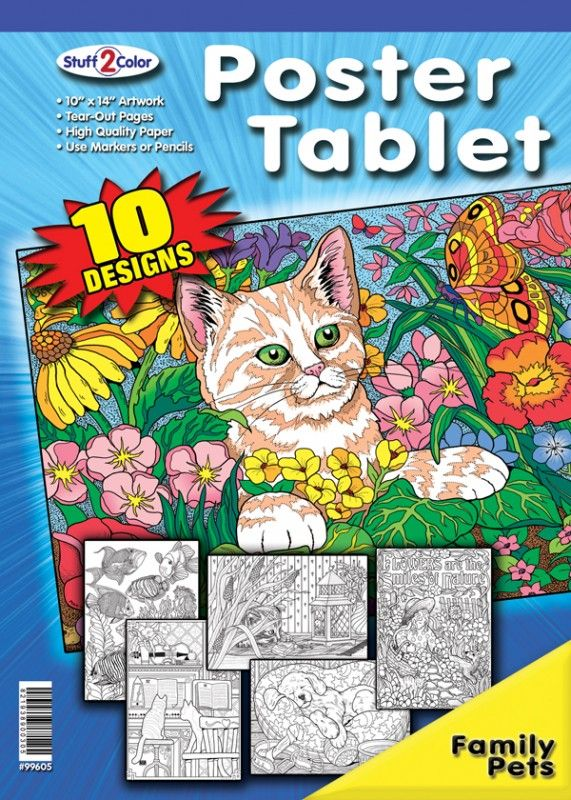 Pets And Critters Coloring Book Coloring Books Family Pet Coloring Posters