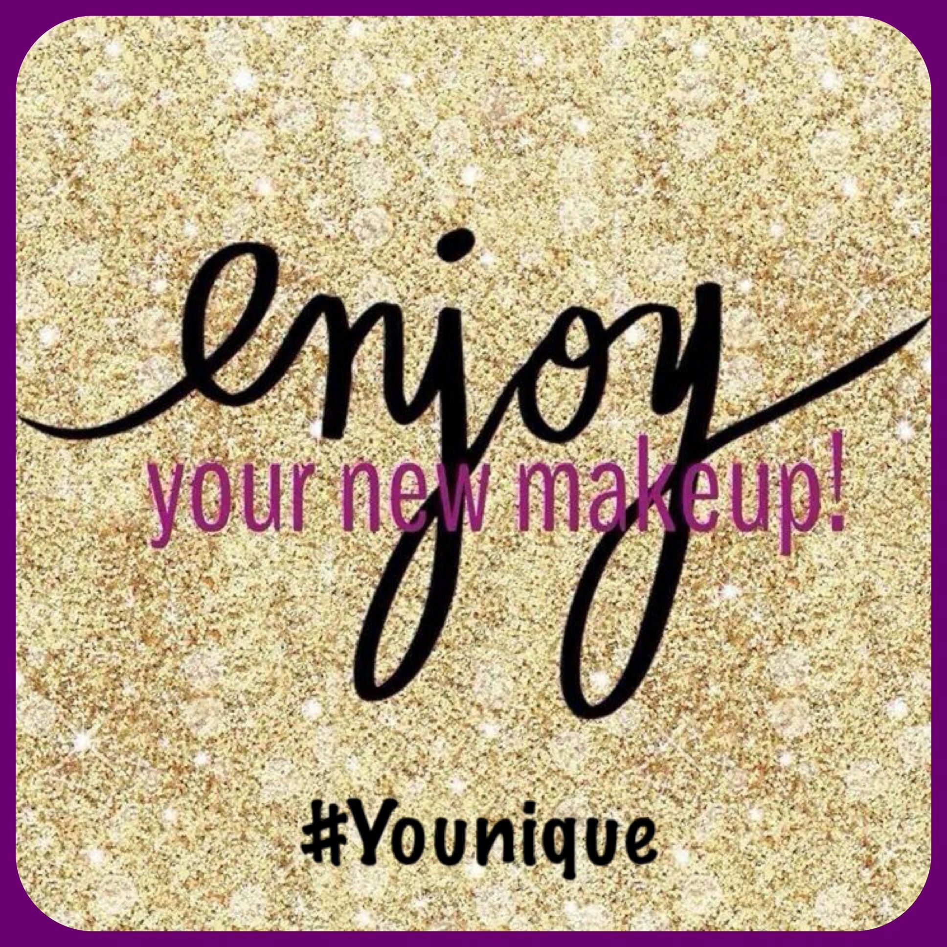 Thank You For Your Order Enjoy Your New Makeup Younique