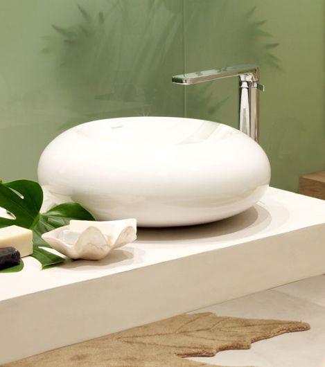 Grifo cascada de ca o alto arola para lavabos sobre encimera grifos de dise o - Grifos de lavabo de diseno ...
