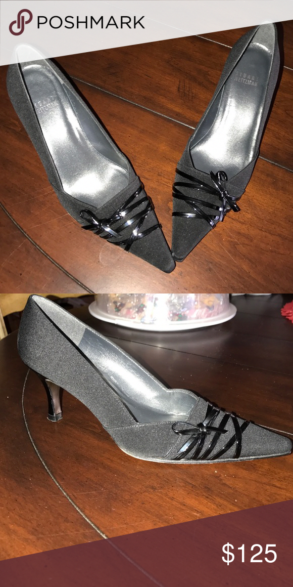 f10599a58f4 Stuart Weitzman black dress shoes Stuart weitzman black patent leather  bottom dress shoe. Small heel